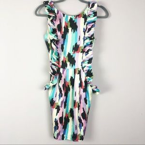 Karlie | Colorful Ruffle Party Dress | Size Small